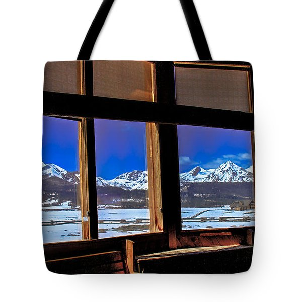 The View From The Sawtooth Valley Meditation Chapel Tote Bag by Robert Bales