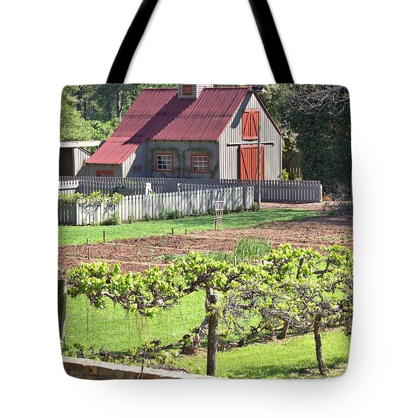 The Vineyard Barn Tote Bag by Gordon Elwell