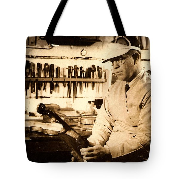 The Violin Maker Tote Bag