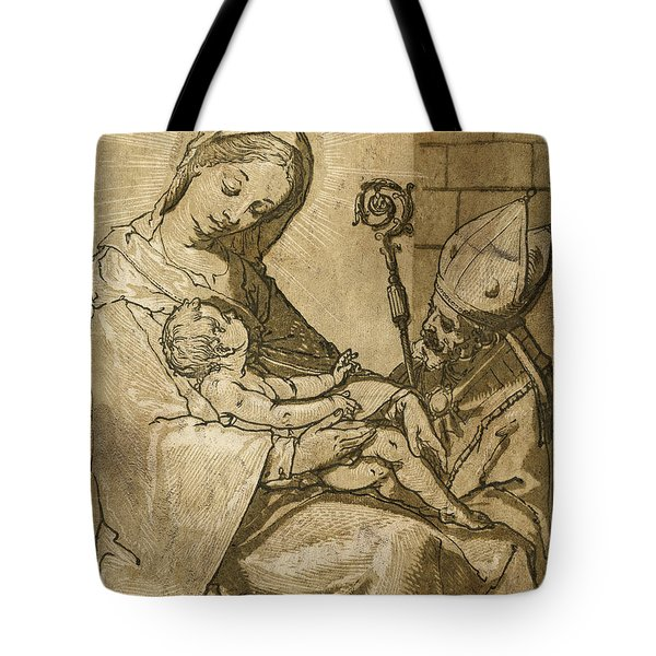 The Virgin And Child Tote Bag by Aged Pixel