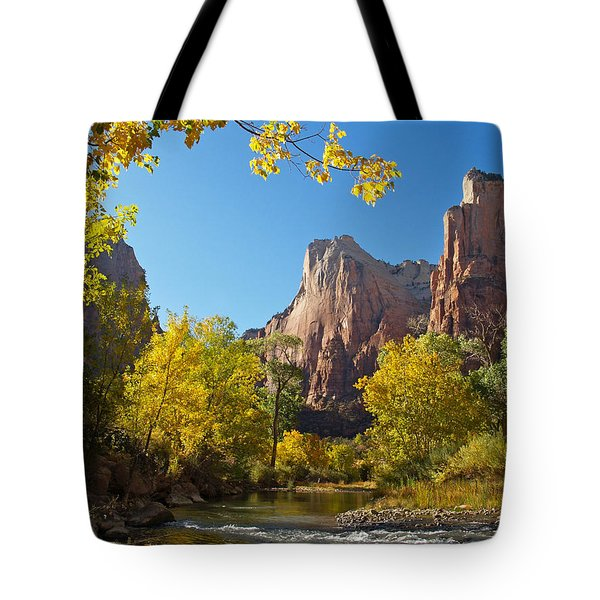 The Virgin River And The Court Of The Patriarchs Tote Bag by Alex Cassels