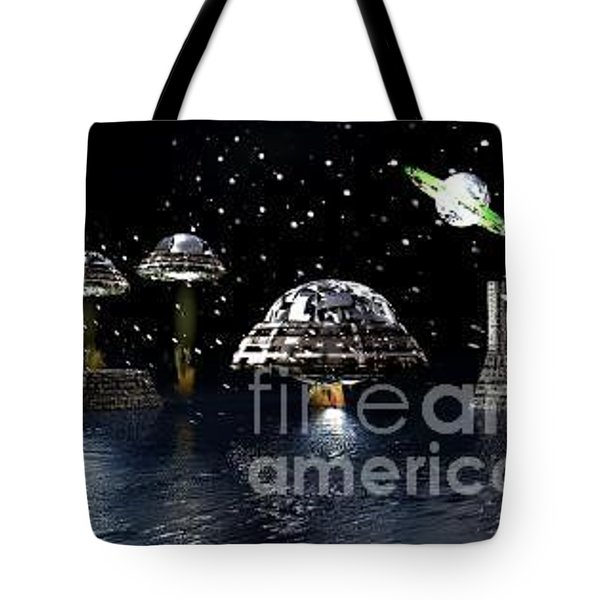 Tote Bag featuring the digital art The Visit by Jacqueline Lloyd