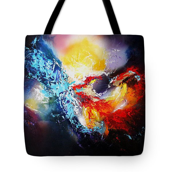 Tote Bag featuring the painting The Vortex by Patricia Lintner