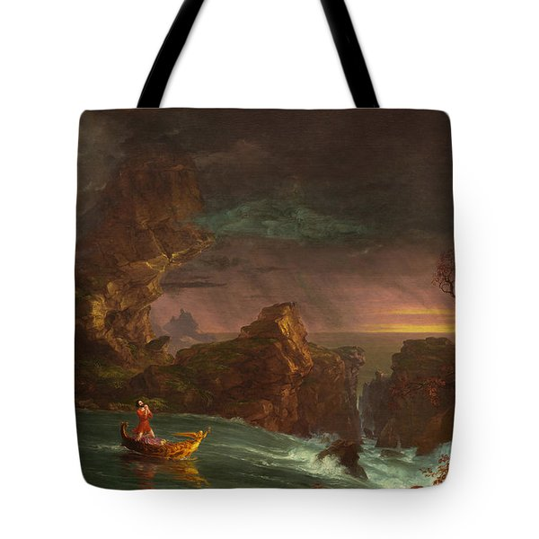 The Voyage Of Life Manhood Tote Bag
