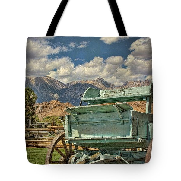 The Wagon Tote Bag by Peggy Hughes
