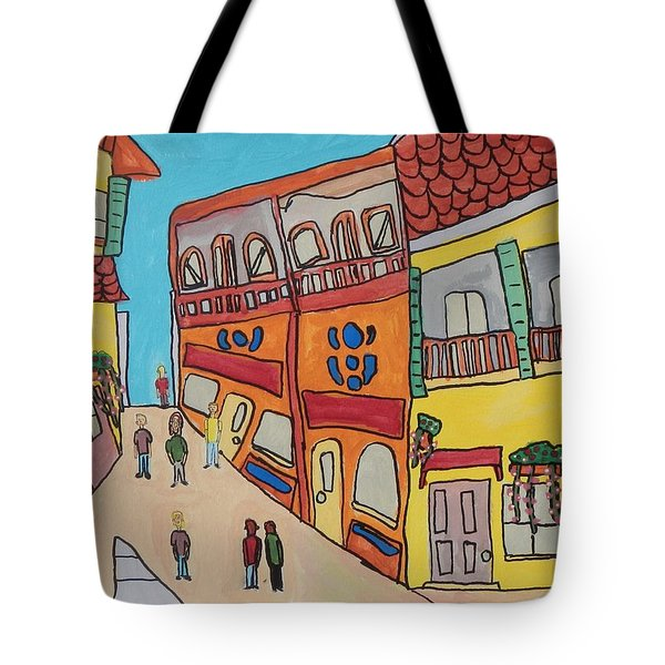 The Walled City Tote Bag by Artists With Autism Inc