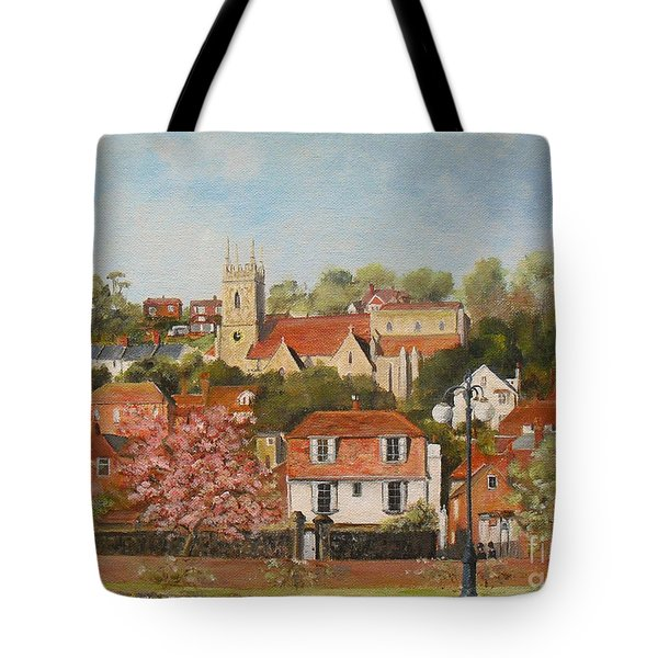 The War Memorial Hythe Tote Bag by Beatrice Cloake