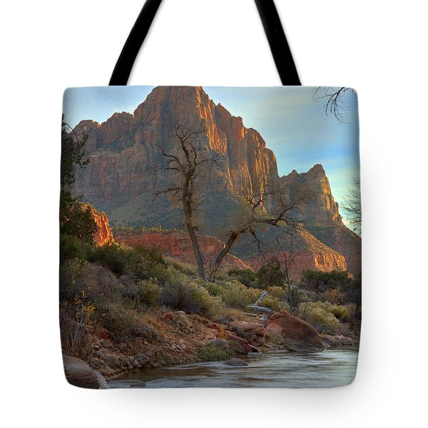 The Watchman In Winter-3 Tote Bag by Alan Vance Ley