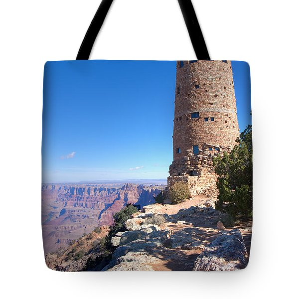 Tote Bag featuring the photograph The Watchtower by John M Bailey