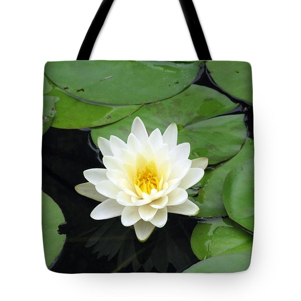 Tote Bag featuring the photograph The Water Lilies Collection - 01 by Pamela Critchlow