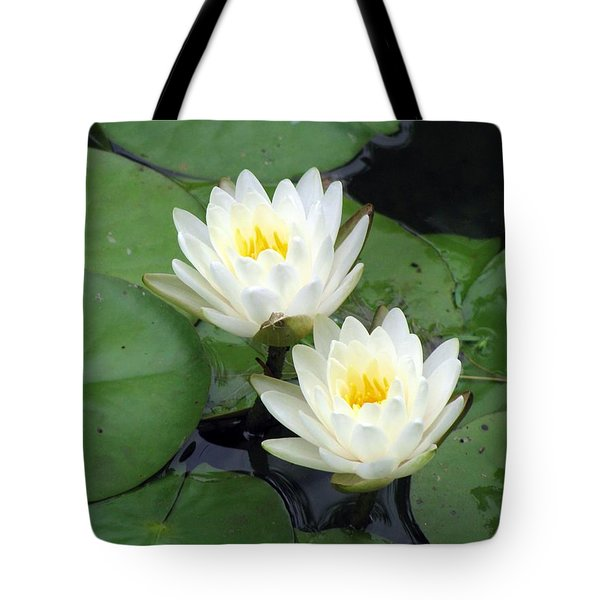 Tote Bag featuring the photograph The Water Lilies Collection - 06 by Pamela Critchlow