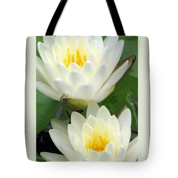 Tote Bag featuring the photograph The Water Lilies Collection - 09 by Pamela Critchlow