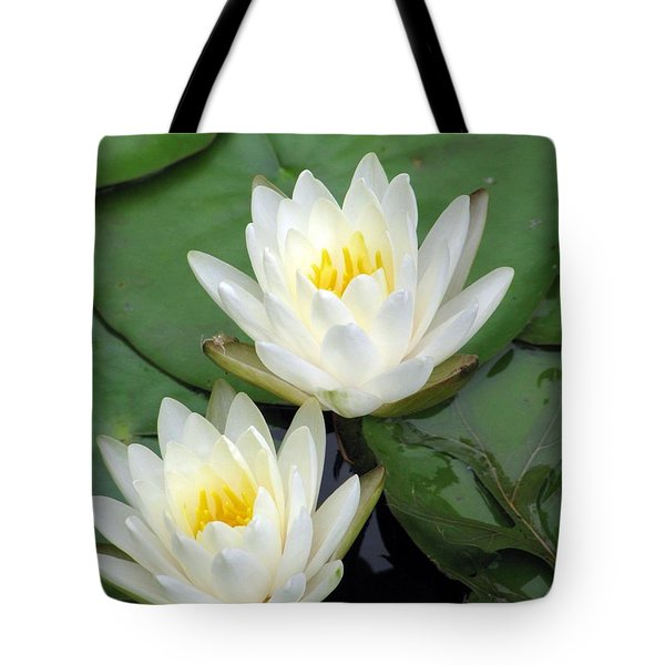 Tote Bag featuring the photograph The Water Lilies Collection - 12 by Pamela Critchlow