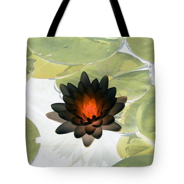 Tote Bag featuring the photograph The Water Lilies Collection - Photopower 1034 by Pamela Critchlow