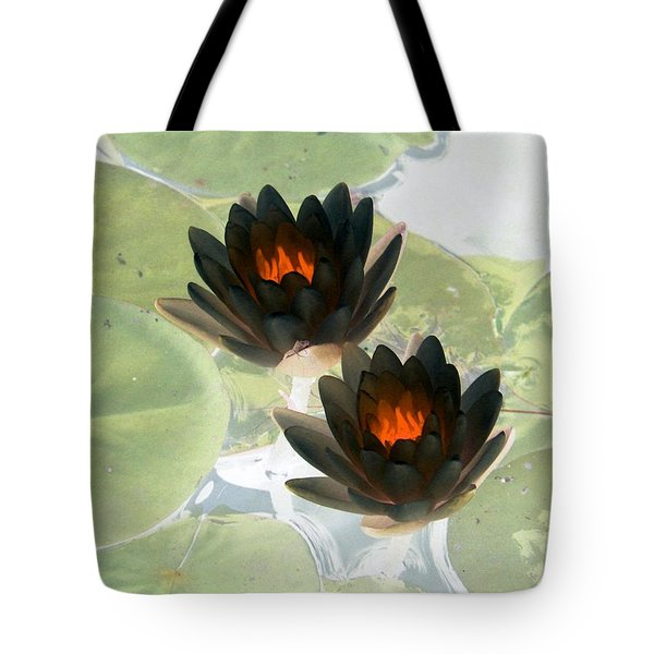 Tote Bag featuring the photograph The Water Lilies Collection - Photopower 1039 by Pamela Critchlow