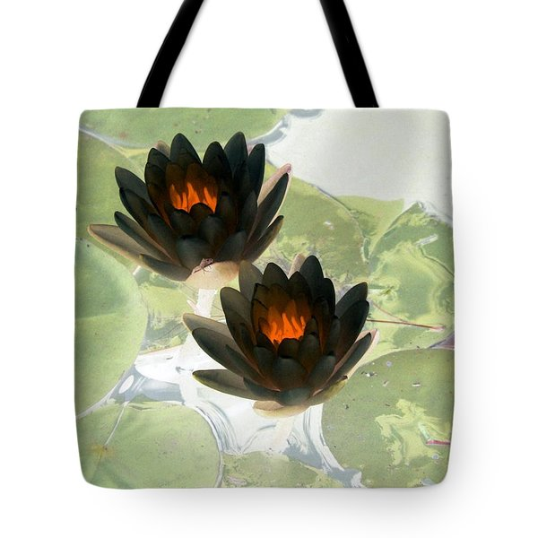 Tote Bag featuring the photograph The Water Lilies Collection - Photopower 1040 by Pamela Critchlow
