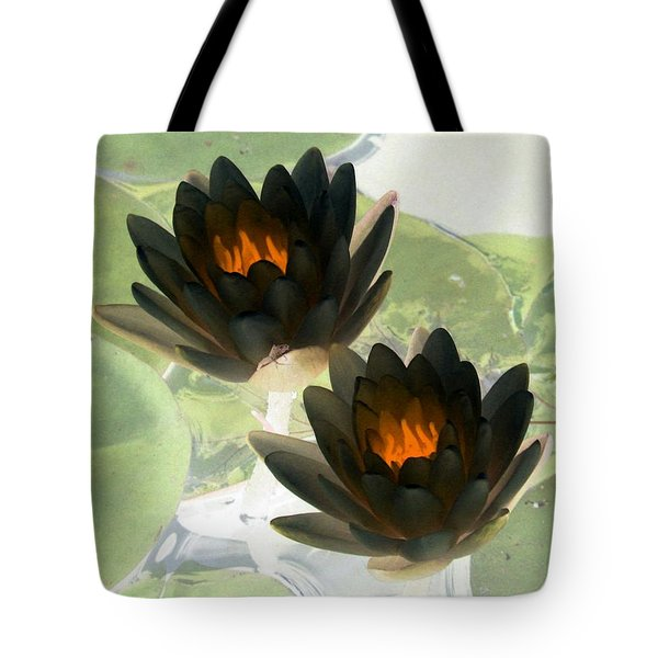 Tote Bag featuring the photograph The Water Lilies Collection - Photopower 1041 by Pamela Critchlow
