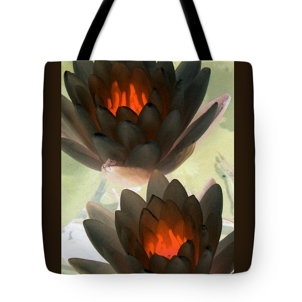 Tote Bag featuring the photograph The Water Lilies Collection - Photopower 1042 by Pamela Critchlow