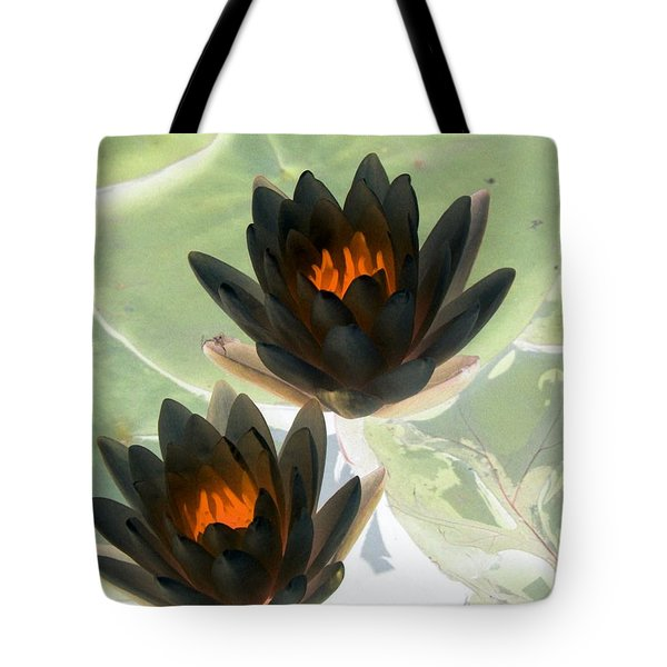 Tote Bag featuring the photograph The Water Lilies Collection - Photopower 1046 by Pamela Critchlow
