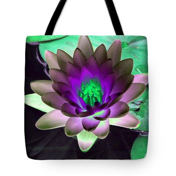Tote Bag featuring the photograph The Water Lilies Collection - Photopower 1114 by Pamela Critchlow