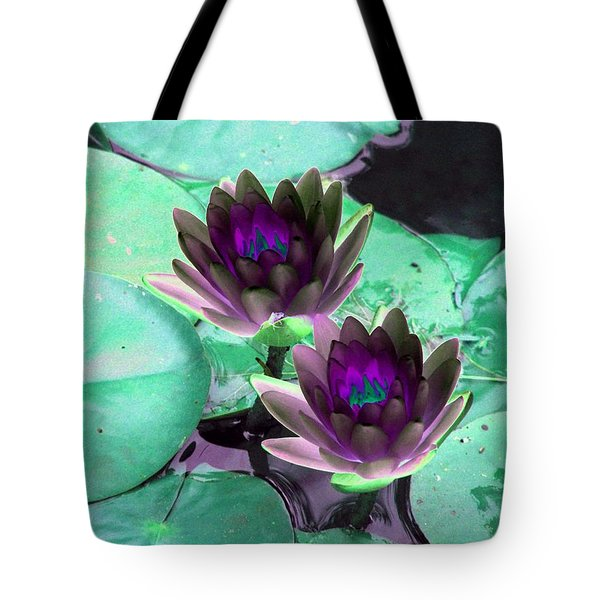 Tote Bag featuring the photograph The Water Lilies Collection - Photopower 1118 by Pamela Critchlow