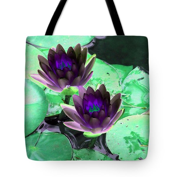 Tote Bag featuring the photograph The Water Lilies Collection - Photopower 1119 by Pamela Critchlow