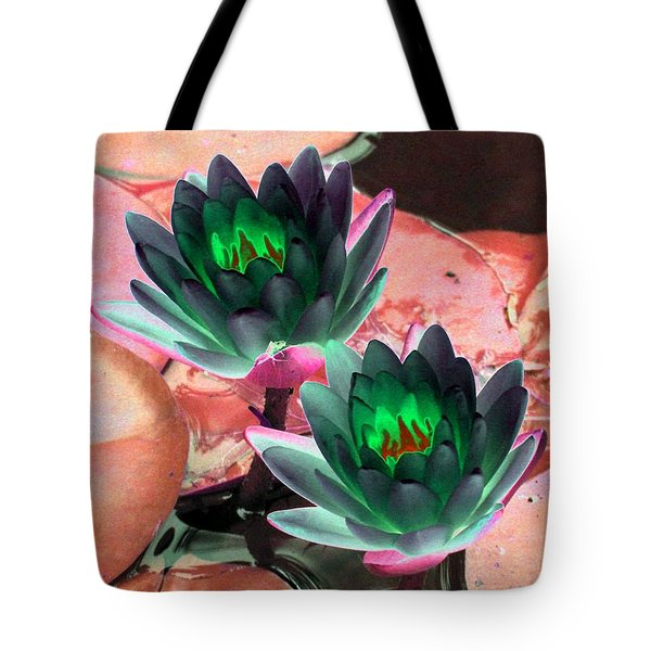 Tote Bag featuring the photograph The Water Lilies Collection - Photopower 1120 by Pamela Critchlow