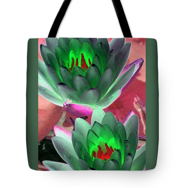 Tote Bag featuring the photograph The Water Lilies Collection - Photopower 1121 by Pamela Critchlow