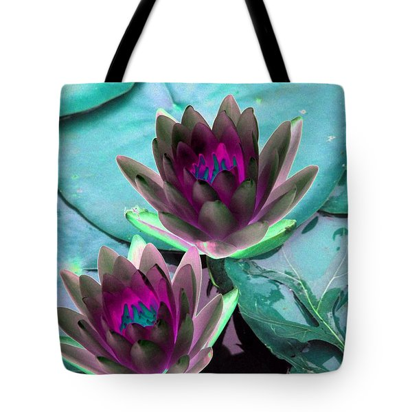 Tote Bag featuring the photograph The Water Lilies Collection - Photopower 1124 by Pamela Critchlow
