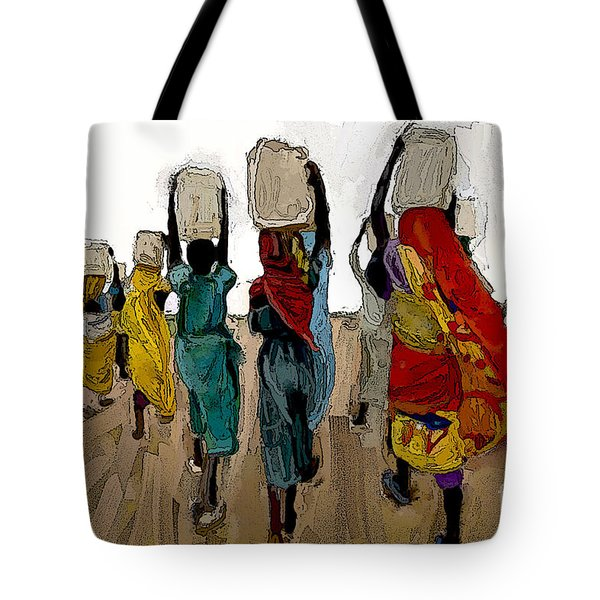 The Water Workers Tote Bag by Vannetta Ferguson