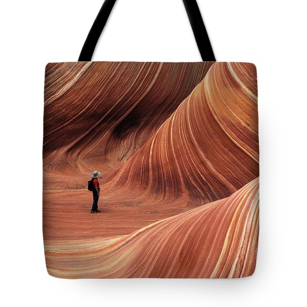 The Wave Seeking Enlightenment Tote Bag by Bob Christopher