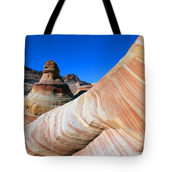 'the Wave' North Coyote Buttes 10 Tote Bag by Jeff Brunton