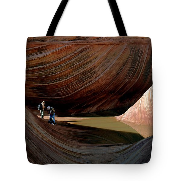 'the Wave' North Coyote Buttes 44 Tote Bag