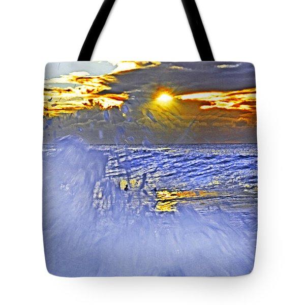 The Wave Which Got Me Tote Bag by Miroslava Jurcik