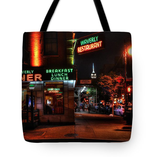 The Waverly Diner And Empire State Building Tote Bag