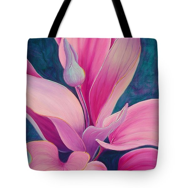 Tote Bag featuring the painting The Way You Look Tonight by Sandi Whetzel