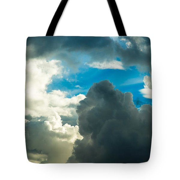 The Weather Is Changing Tote Bag by Alexander Senin