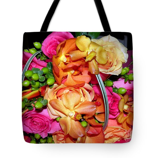 The Wedding Flowers Tote Bag by Kathy  White