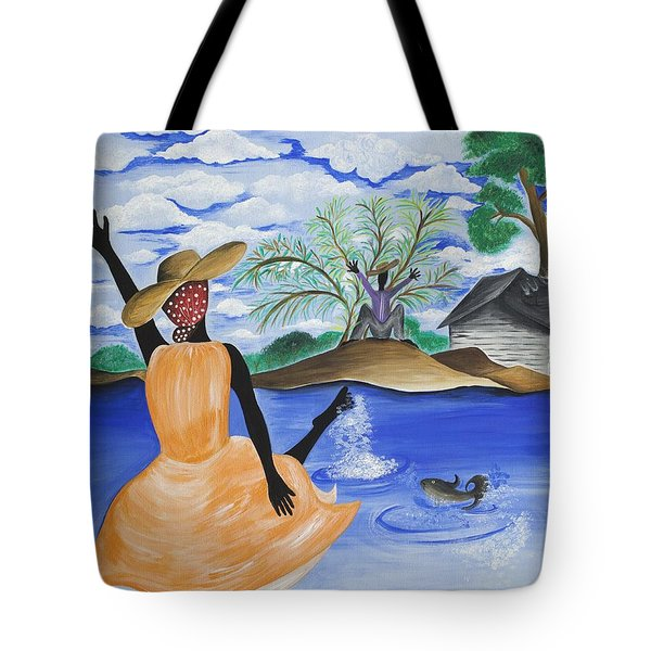 The Welcome River Tote Bag by Patricia Sabree