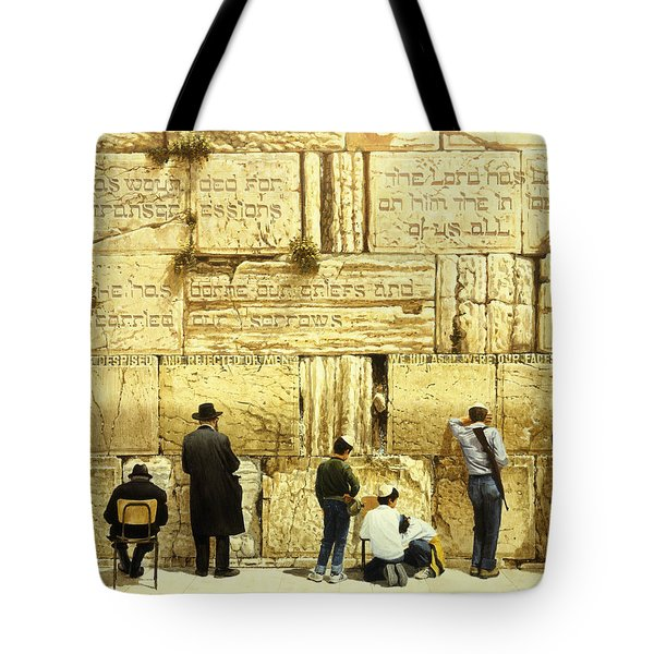 The Western Wall  Jerusalem Tote Bag by Graham Braddock