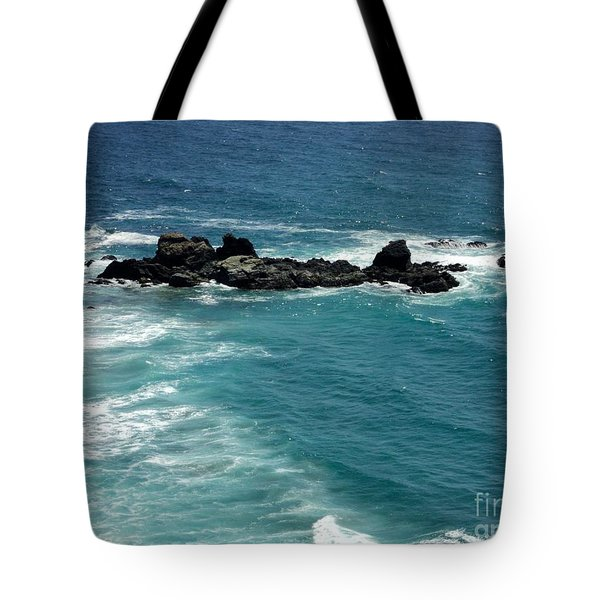 Tote Bag featuring the photograph The Whale Rock by Carla Carson