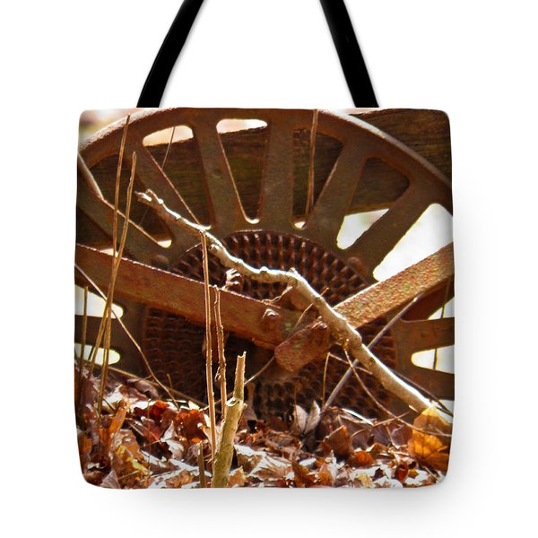 Tote Bag featuring the photograph The Wheel Of Planting by Nick Kirby