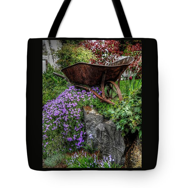 Tote Bag featuring the photograph The Whimsical Wheelbarrow by Thom Zehrfeld