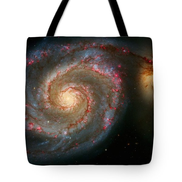 The Whirlpool Galaxy M51 And Companion Tote Bag by Don Hammond