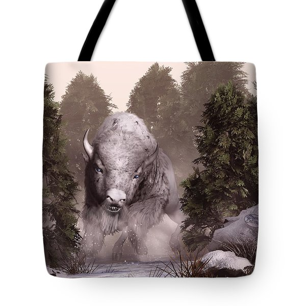 The White Buffalo Tote Bag
