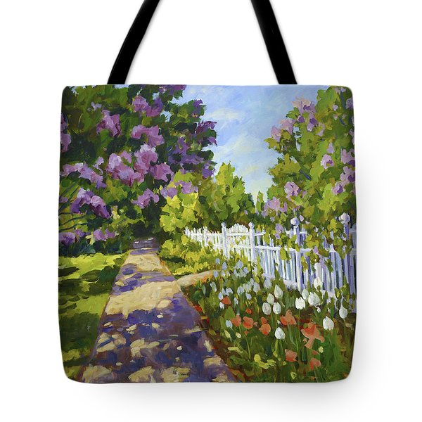 The White Fence Tote Bag