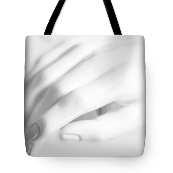 The White Hand Tote Bag by Tony Rubino