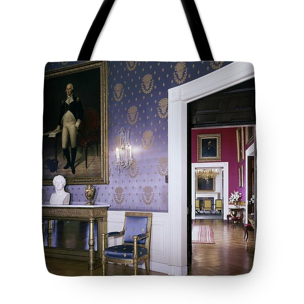The White House Blue Room Tote Bag