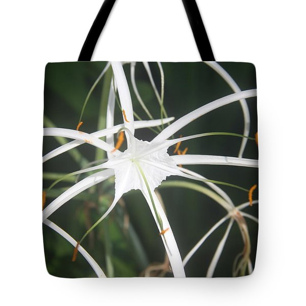 The White Spyder Tote Bag