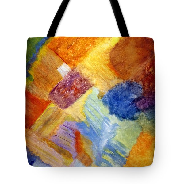 The White Square Tote Bag by Karyn Robinson